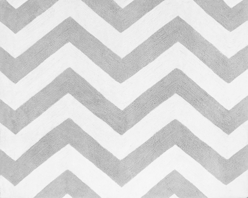Accent Floor Rug for Black and Gray Chevron Zig Zag Bedding Collection by Sweet Jojo Designs - Click to enlarge