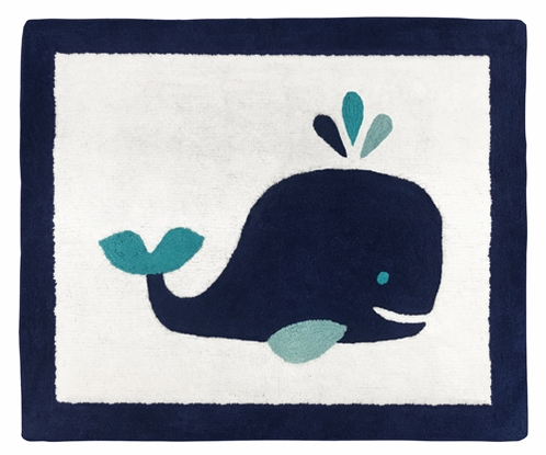 Accent Floor Rug for Blue Whale Collection by Sweet Jojo Designs - Click to enlarge
