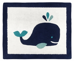 Accent Floor Rug for Blue Whale Collection by Sweet Jojo Designs