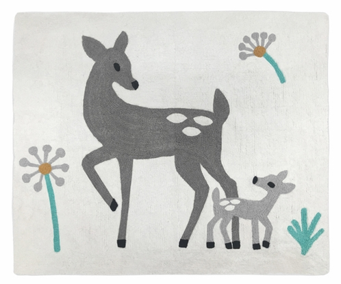 Accent Floor Rug for Forest Deer and Dandelion Collection by Sweet Jojo Designs - Click to enlarge