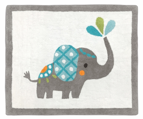 Accent Floor Rug for Mod Elephant Collection by Sweet Jojo Designs - Click to enlarge