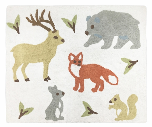 Accent Floor Rug for Woodland Animal Toile Collection by Sweet Jojo Designs - Click to enlarge