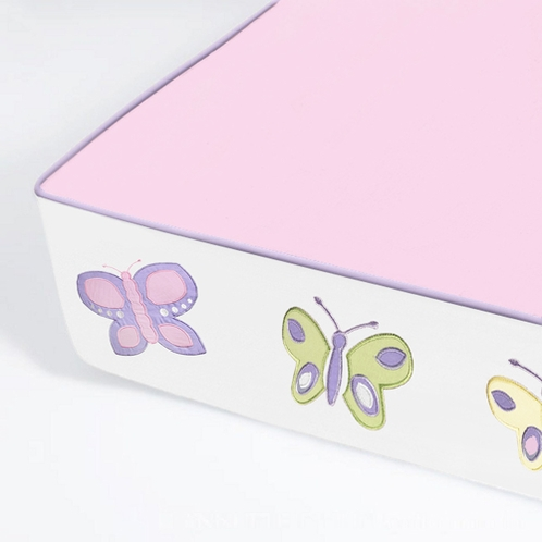 All In One - Bumper Free Fitted Crib Sheet for Butterfly Bedding Sets - Click to enlarge
