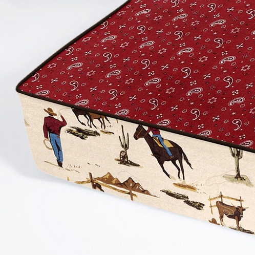 All In One - Bumper Free Fitted Crib Sheet for Wild West Western Bedding Sets - Click to enlarge