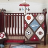All Star Sports Baby Bedding - 4pc Crib Set