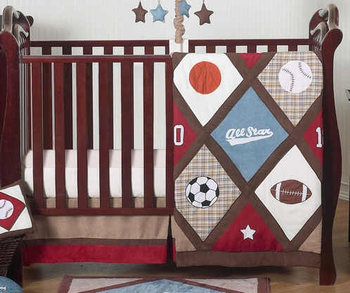 All Star Sports Baby Bedding 4pc Crib Set Only 139 99