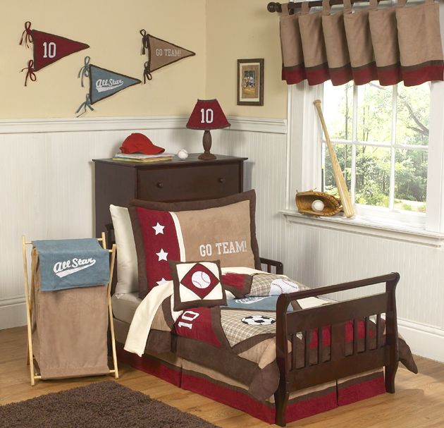 All Star Sports Bed Skirt For Toddler Bedding Sets By Sweet Jojo Designs  Only $23.99