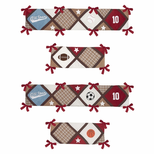All Star Sports Collection Crib Bumper by Sweet Jojo Designs - Click to enlarge