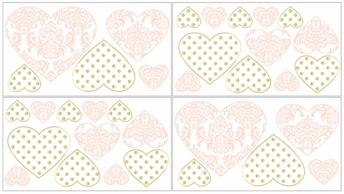 Amelia Peel and Stick Wall Decal Stickers Art Nursery Decor by Sweet Jojo Designs - Set of 4 Sheets - Click to enlarge