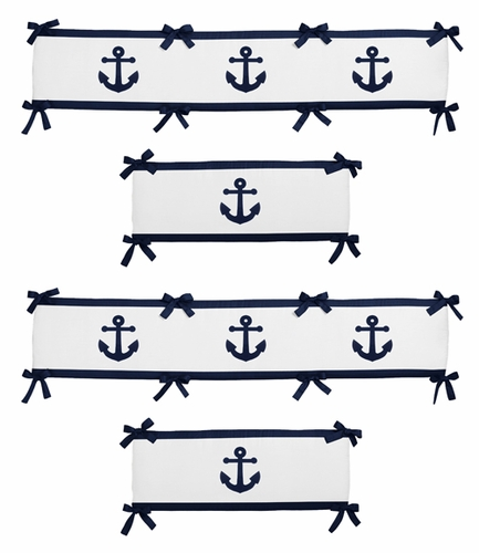 Anchors Away Collection Crib Bumper by Sweet Jojo Designs - Click to enlarge