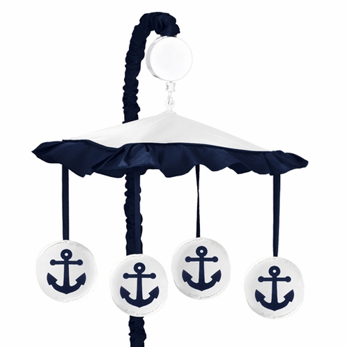 Anchors Away Musical Baby Crib Mobile by Sweet Jojo Designs - Click to enlarge