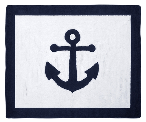 Anchors Away Nautical Accent Floor Rug by Sweet Jojo Designs - Click to enlarge