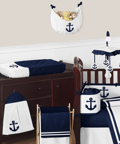 navy anchors crib bedding nautical boy baby bedding carousel