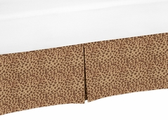Animal Print Crib Bed Skirt for Cheetah Girl Baby Bedding Sets by Sweet Jojo Designs