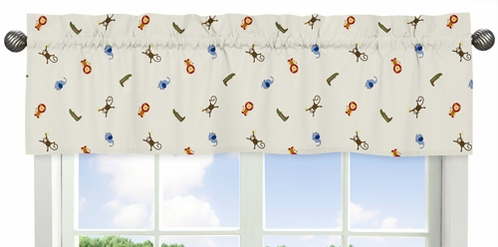 Animal Print Window Valance for Jungle Time Collection by Sweet Jojo Designs - Click to enlarge