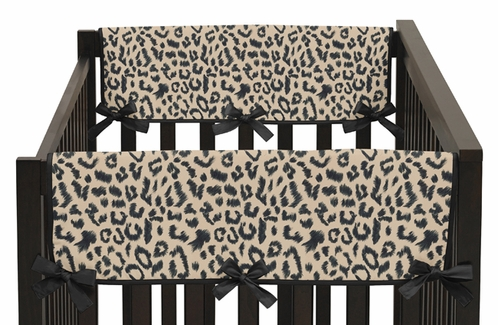 Animal Safari Baby Crib Side Rail Guard Covers by Sweet Jojo Designs - Set of 2 - Click to enlarge