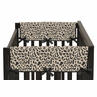 Animal Safari Baby Crib Side Rail Guard Covers by Sweet Jojo Designs - Set of 2