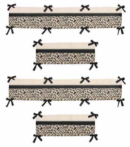 Animal Safari Collection Crib Bumper by Sweet Jojo Designs - Click to enlarge