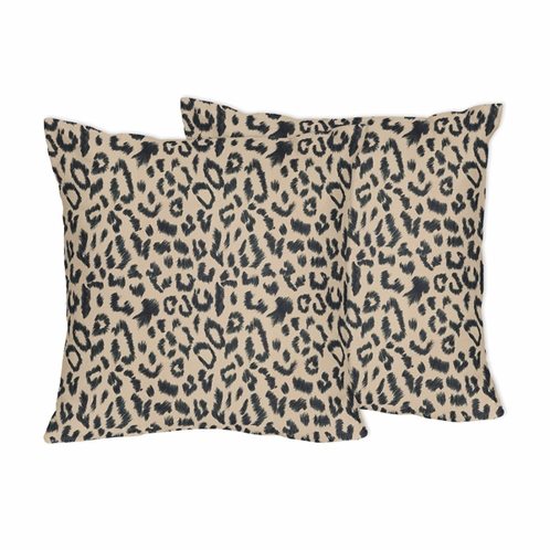 Animal Safari Decorative Accent Throw Pillows by Sweet Jojo Designs - Set of 2 - Click to enlarge