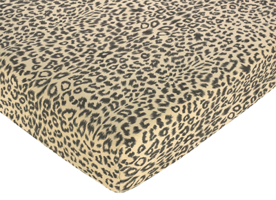 Animal Safari Fitted Crib Sheet for Baby and Toddler Bedding Sets by Sweet Jojo Designs - Animal Print Microsuede - Click to enlarge