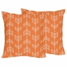 Arrow Print Decorative Accent Throw Pillows - Set of 2