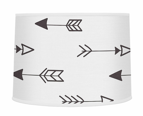 Arrow Print Lamp Shade for Black and White Fox Collection by Sweet Jojo Designs - Click to enlarge