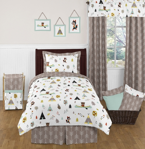 outdoor adventure nature 4pc twin bedding set click to enlarge