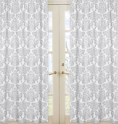 Avery Damask Window Treatment Panels by Sweet Jojo Designs - Set of 2 - Click to enlarge