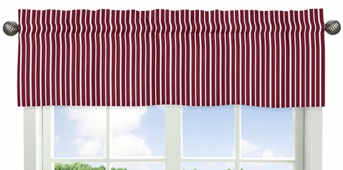 Aviator Collection Red and White Stripe Window Valance by Sweet Jojo Designs - Click to enlarge