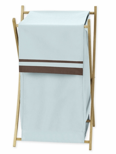 Baby and Kids Clothes Blue and Brown Hotel Laundry Hamper by Sweet Jojo Designs - Click to enlarge