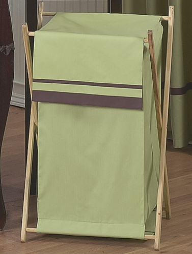 Baby and Kids Clothes Green and Brown Hotel Laundry Hamper by Sweet Jojo Designs - Click to enlarge