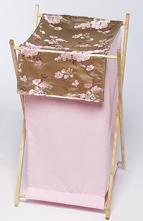 Baby and Kids Clothes Laundry Hamper for Abby Rose Bedding - Click to enlarge