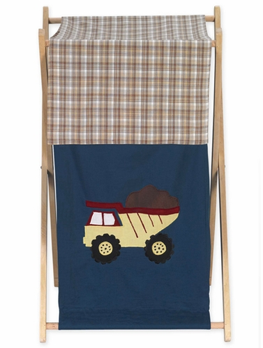 Baby And Kids Clothes Laundry Hamper For Construction Zone Bedding   Click  To Enlarge