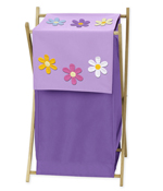 Baby and Kids Clothes Laundry Hamper for Danielle's Daisies Bedding
