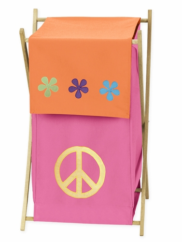 Baby And Kids Clothes Laundry Hamper For Groovy Peace Sign