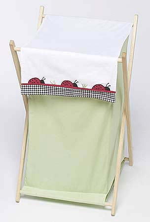 Baby and Kids Clothes Laundry Hamper for Ladybug Parade Bedding - Click to enlarge