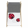 Baby and Kids Clothes Laundry Hamper for Ladybug Polka Dot Bedding Set