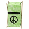 Baby and Kids Clothes Laundry Hamper for Lime Groovy Peace Sign Tie Dye Bedding