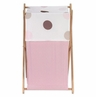 Baby and Kids Clothes Laundry Hamper for Pink and Brown Mod Dots Bedding