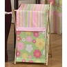 Baby and Kids Clothes Laundry Hamper for Pink and Green Blossom Bedding