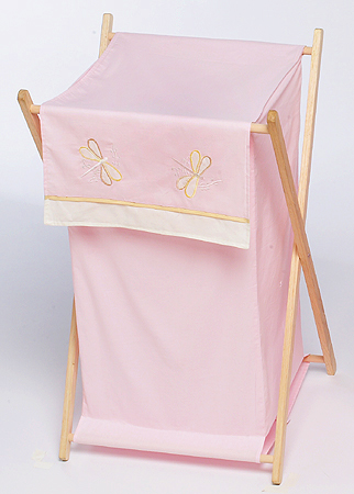 Baby and Kids Clothes Laundry Hamper for Pink Dragonfly Dreams Bedding - Click to enlarge