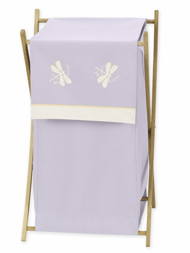 Baby and Kids Clothes Laundry Hamper for Purple Dragonfly Dreams Bedding - Click to enlarge