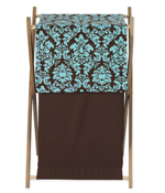 Baby and Kids Clothes Turquoise and Brown Bella Laundry Hamper by Sweet Jojo Designs