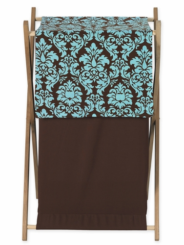 Baby and Kids Clothes Turquoise and Brown Bella Laundry Hamper by Sweet Jojo Designs - Click to enlarge