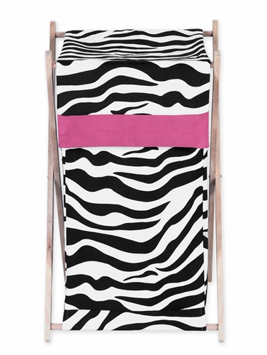 Baby and Kids Funky Zebra Clothes Laundry Hamper by Sweet Jojo Designs - Click to enlarge