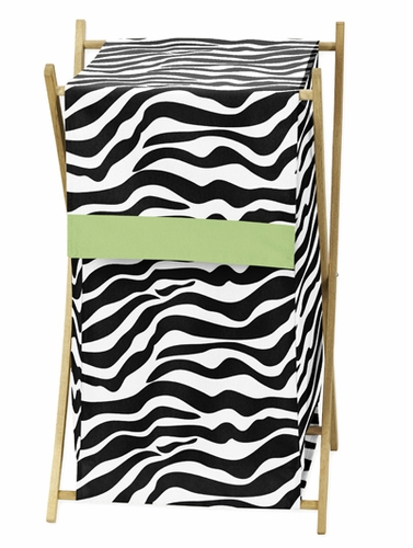 Baby and Kids Lime Funky Zebra Clothes Laundry Hamper - Click to enlarge