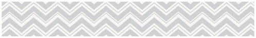 Baby and Kids Modern Wall Border for Turquoise and Gray Chevron Zig Zag Bedding by Sweet Jojo Designs - Click to enlarge