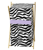 Baby and Kids Purple Funky Zebra Clothes Laundry Hamper