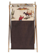 Baby and Kids Wild West Cowboy Western Horse Clothes Laundry Hamper by Sweet Jojo Designs