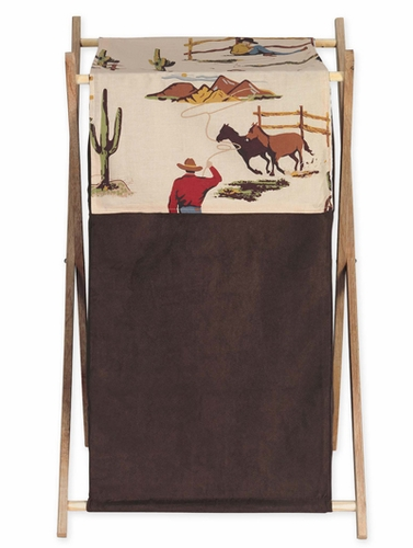Baby and Kids Wild West Cowboy Western Horse Clothes Laundry Hamper by Sweet Jojo Designs - Click to enlarge
